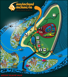 Green Island Marineland Melanesia Map
