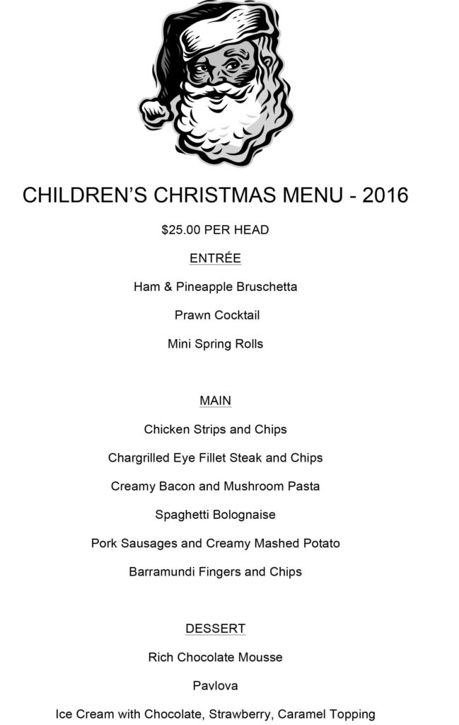 Microsoft Word - Childrens Xmas Menu 2016.doc