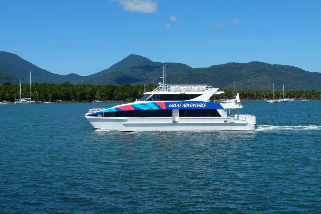 Great Adventures provide transfers to Green Island Resort.