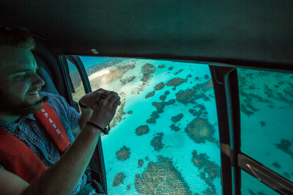 See the reef from the air! Image courtesy of Tourism Tropical North Queensland.