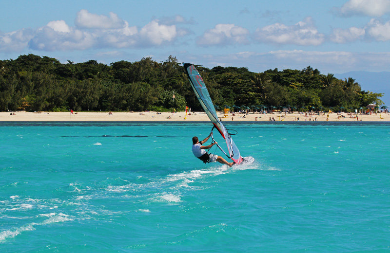 Windsurfing on Green Island. Image courtesy of Green Island Resort.