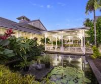 Barramundi Pond at the Entrance of Hotel Grand Chancellor Palm Cove