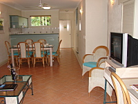 Living Area in 2 Bedroom Apartment -  Palm Cove Tropic Apartments
