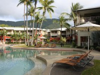 Amphora Palms is right next to the Pool!