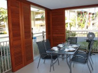 Courtyard with Direct Access into Lagoon Pool Area - Palm Cove ground floor apartment