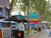 Palm Cove Village with shops and cafes