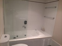 1 of 2 Bathrooms with Spa Bath  - 94 On the Beach Private Holiday Apartment Palm Cove