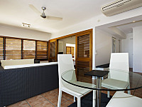 Separate Dining and Living area in suites