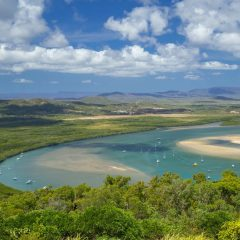 1 Day Cooktown 4WD Adventure | Drive/Fly | Panoramic Views of Endeavour River From Grassy Hill