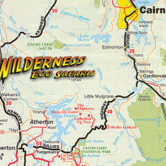 1 Day Tour Itinerary Map | Shared Or Private Tour Of The Rainforest | Ex Cairns Queensland Australia