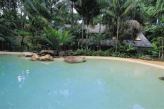1 of 2 Swimming Pools at Ferntree Rainforest Lodge Cape Tribulation