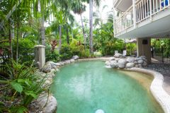 1 of 2 Tropical Swimming Pools at Driftwood Mantaray Apartments Port Douglas