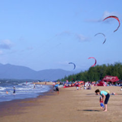Kite Surfing is very popular at Yorkey's Beach