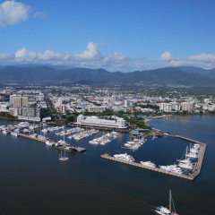15 minute scenic helicopter flights are available from Cairns in Queensland Australia