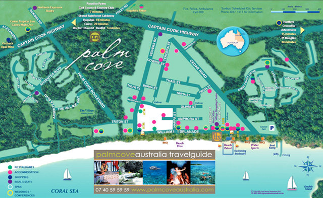 Map Of Australia Port Douglas.Palm Cove Location