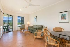 2 Bedroom Apartment Living Area - Tropic Towers Apartments Cairns
