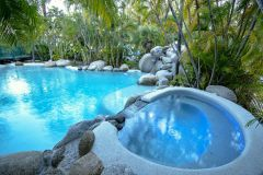 Main Lagoon Swimming Pool with Spa (Heated in winter) - Beach Terraces Port Douglas Holiday Apartments