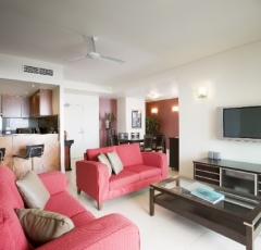 3 Bedroom Apartment Living Area - Mantra Trilogy Cairns