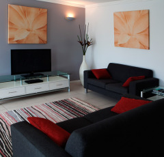 3 Bedroom Apartments Lounge room - Waters Edge Holiday Apartments Cairns