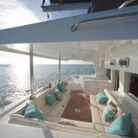 Spacious room on our French built yachts on the Great Barrier Reef