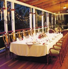 Jardine's wedding set up on Verandah