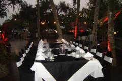 Dinner function by the Swimming Pool