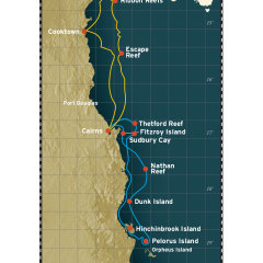 7 Night Great Barrier Reef Cruise Map