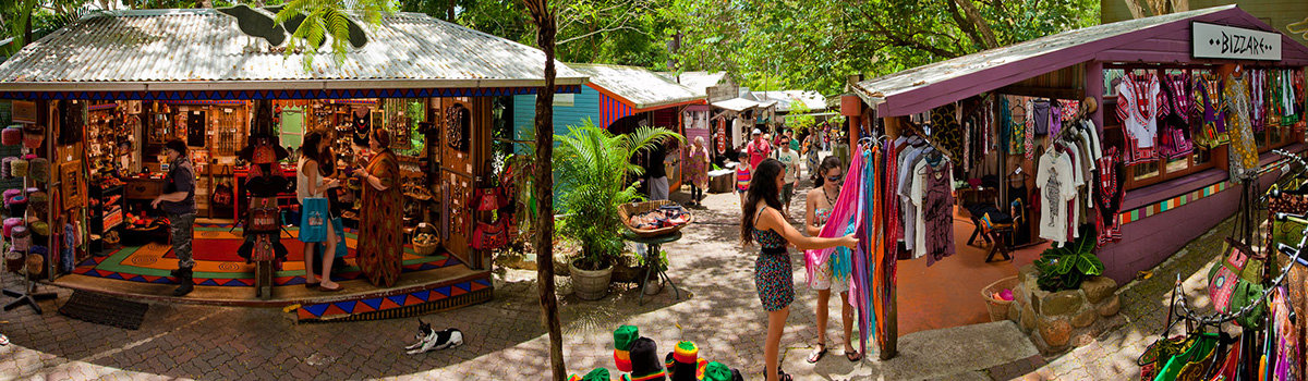 Visit Kuranda via the Skyrail and Kuranda Scenic Railway- Kuranda Markets
