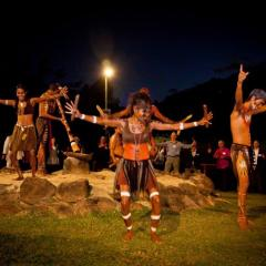 Aboriginal Dancers Tjapukai Night Fire Show