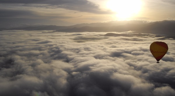 Above the Clouds in a Hot Air Balloon