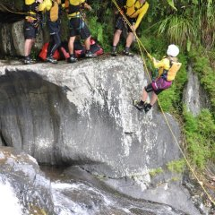 Abseiling Crystal Cascades - Cairns Canyoning Tour