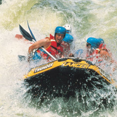 Adrenaline rushing white water rafting in Mission Beach Tully River