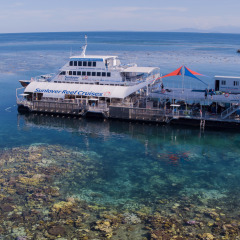 Aerial Shot of New Reef Pontoon