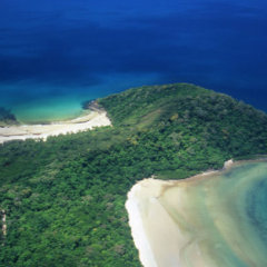 Aerial view Cape Tribulation - Cairns scenic flights
