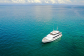 Aerial view luxury charter yacht Port Douglas | Great Barrier Reef in Australia