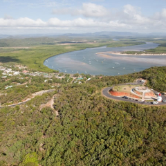 Aerial view of Cooktown