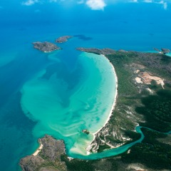 Aerial view of Cooktown from your scenic air tour