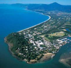 Aerial View of Port Douglas with Four Mile Beach and Port Douglas Marina