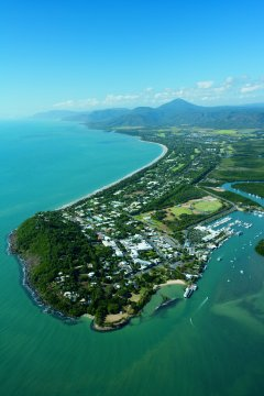 Aerial view of Port Douglas Tropical North Queensland, Australia