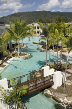Aerial view of Sea Temple Resort lagoon pool