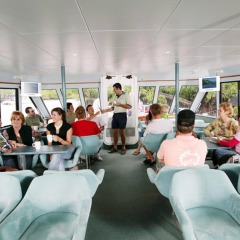Air-conditioned comfort on Cairns Harbour Cruise