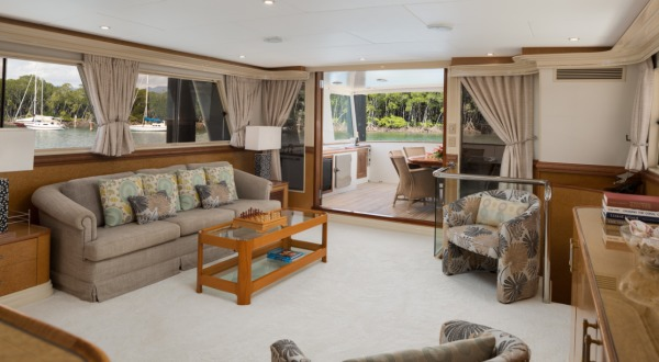 Air-conditioned saloon | Great Barrier Reef Charter Yacht