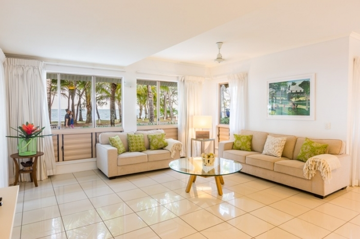 Open plan living in the Holiday Apartments at Amphora Resort Holiday Apartments - Palm Cove
