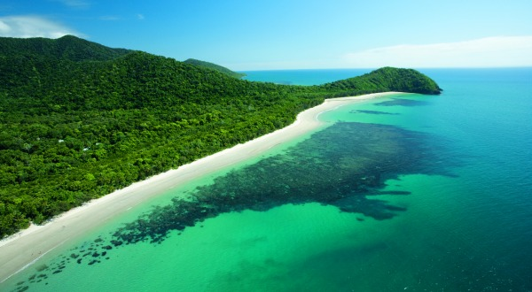Aerial View Cape Tribulation Beach | Full Day Tour From Cairns