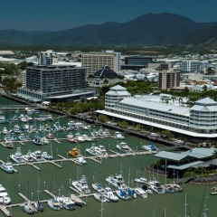 Ariel view of Cairns Queensland Australia
