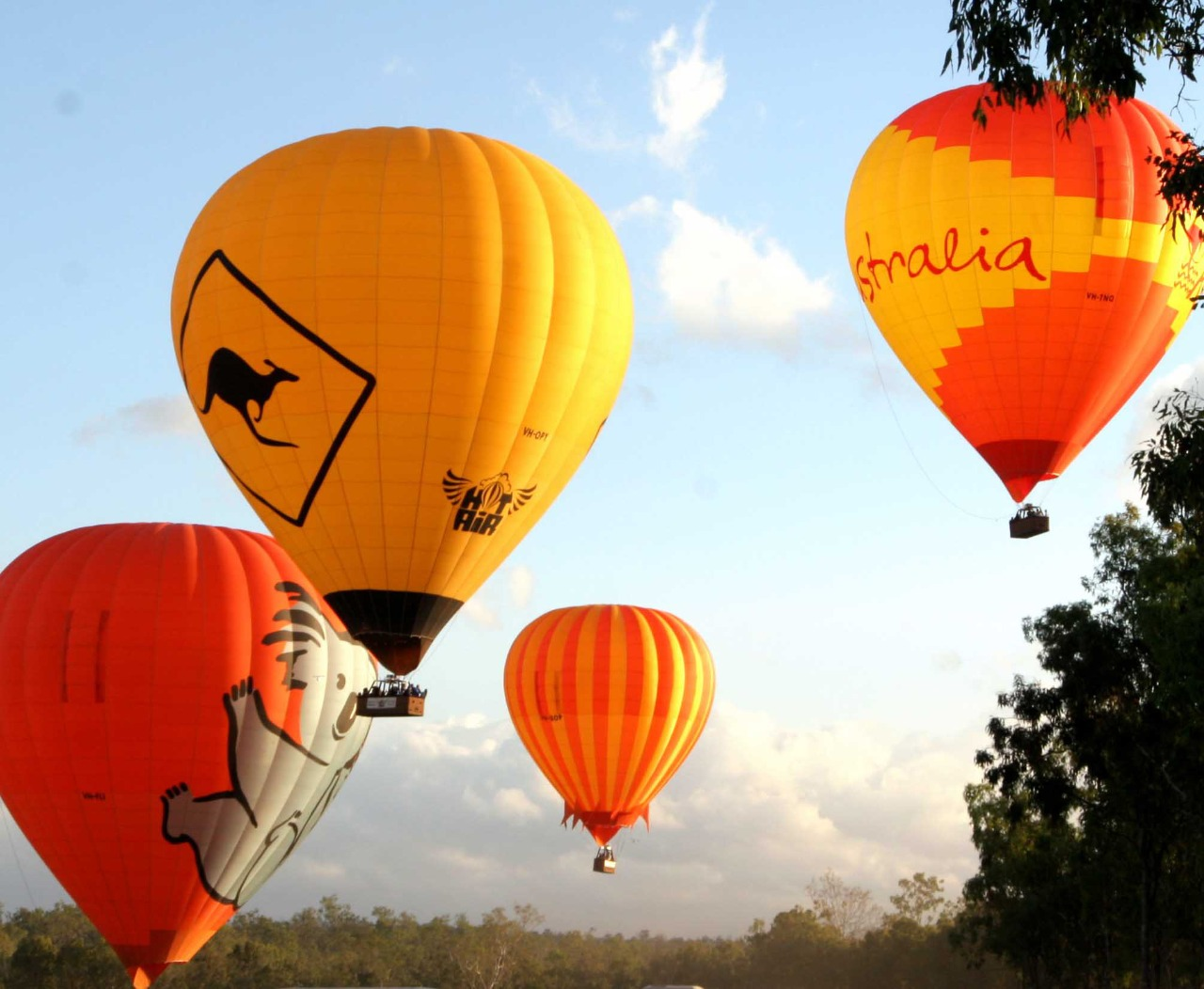 cairns attractions cairns hot air ballooning