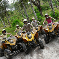 ATV Riding Group on Heli ATV Horse Riding Tour