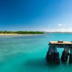 Azure waters at Horn Island | Cape York Air Tours