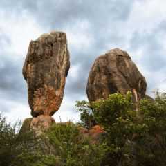 Balancing Rock Outback Queensland Australia