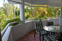 Private Balcony at your holiday Apartment at Beach Terraces Port Douglas